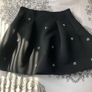Black beaded skirt!